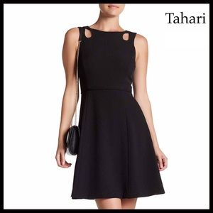 TAHARI LBD A-LINE FIT-AND-FLARE DRESS